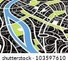 Abstract city map illustration - stock vector