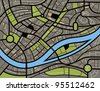 Abstract city map illustration - stock