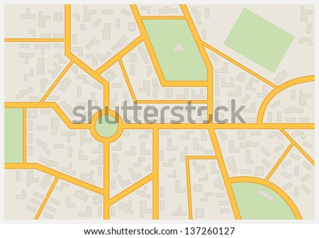Abstract city map. Vector illustration.