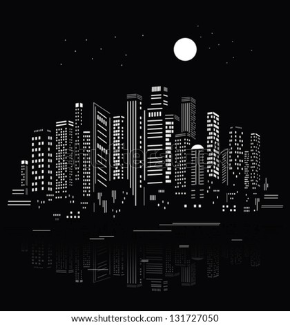 Abstract City Silhouette - stock vector