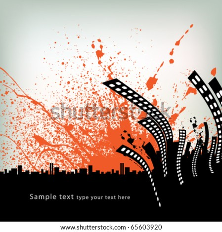 abstract city silhouette background