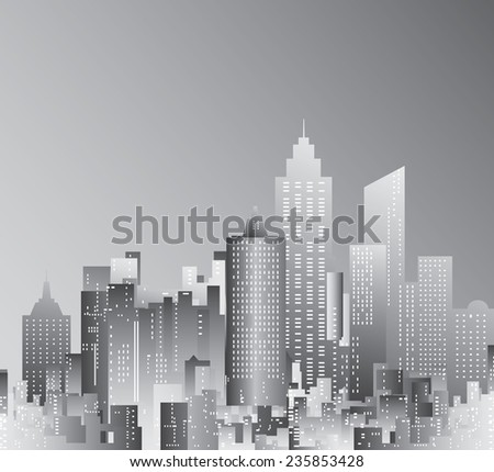 abstract city skyscrapers