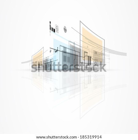 abstract city technology concept business background