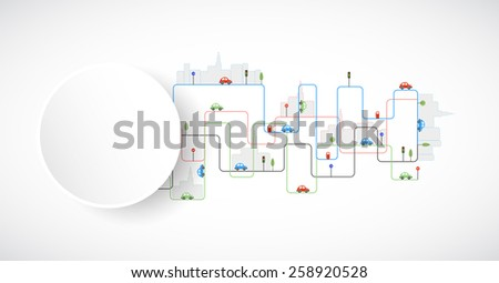 Abstract city theme vector background - stock vector