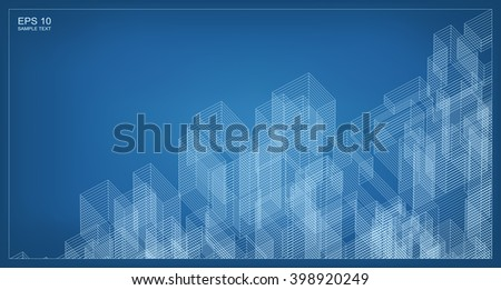Abstract city wireframe background building vector vectores en stock abstract city wireframe background of building vector blueprint background for template design malvernweather Image collections