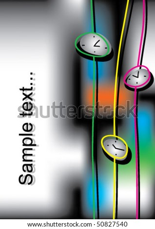 abstract clock background - stock vector