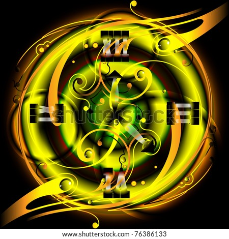 Abstract clock, eps 10 - stock vector