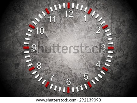 Abstract clock on grunge wall. Vector business background - stock vector