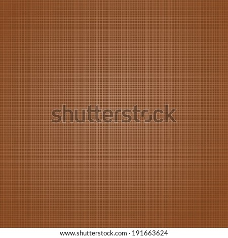 Abstract cloth textured background. Vector illustration for your brown design. Jute texture, packing bag, book cover. Fabric canvas wallpaper with delicate dark and light brown striped pattern. - stock vector