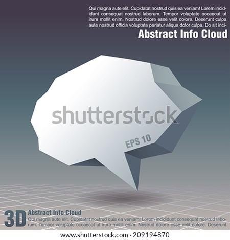 Abstract cloud - stock vector
