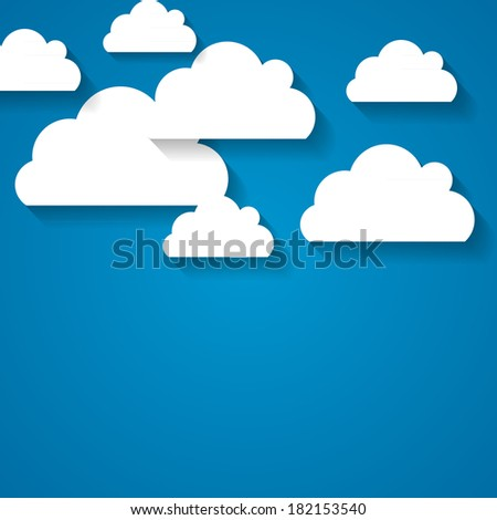 Abstract Cloud Background Vector Illustration - stock vector