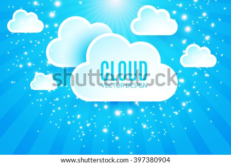Abstract Cloud Background. Vector illustration