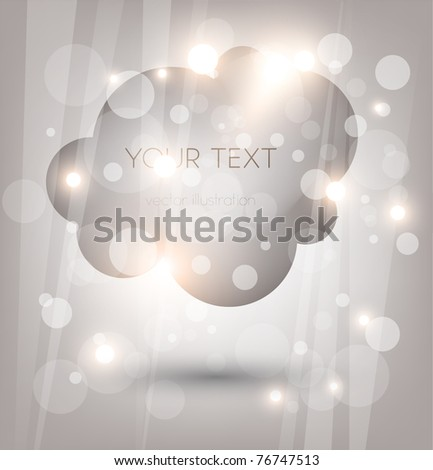 Abstract Cloud storefront. You can change colors for the background, eps10 vector - stock vector