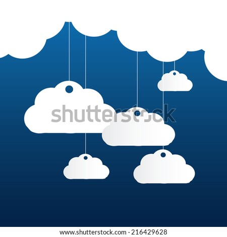 Abstract Clouds vector and illustration - stock vector