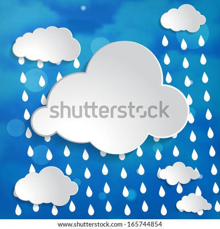 Wallpapers Of Vector Abstract Background With Blue Clouds Sun And Rain ...