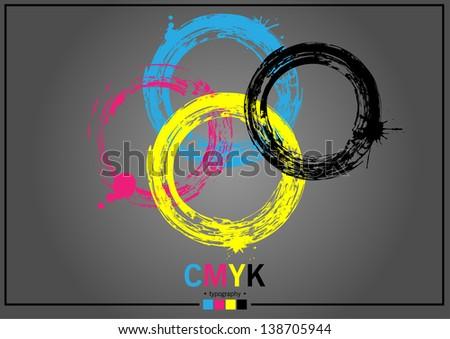 Abstract CMYK - stock vector