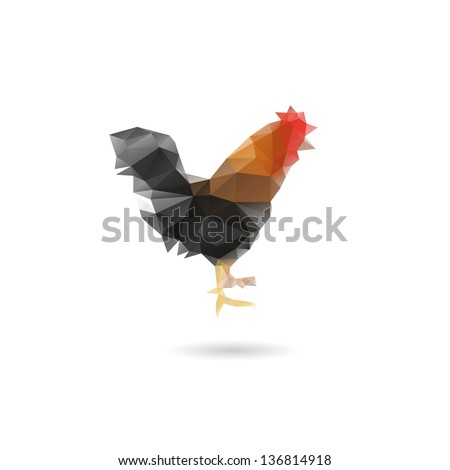 Abstract cock isolated on a white backgrounds - stock vector