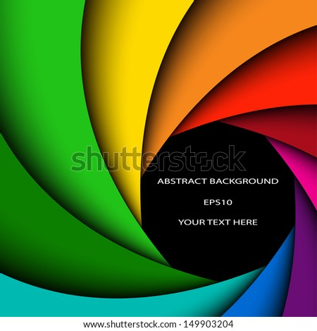 Abstract color background , colorful rainbow swirl - stock vector