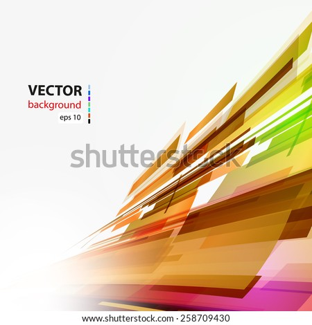 Abstract color background, easy editable - stock vector