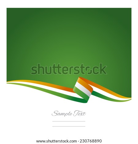 Abstract color background Irish flag - stock vector