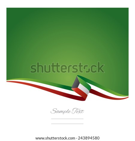 Abstract color background Kuwait flag - stock vector