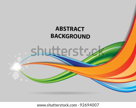 abstract color background with flash vector - stock vector