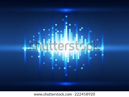 Abstract color blue  pixel background, Vector illustration