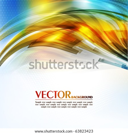 Abstract color card. Vector - stock vector