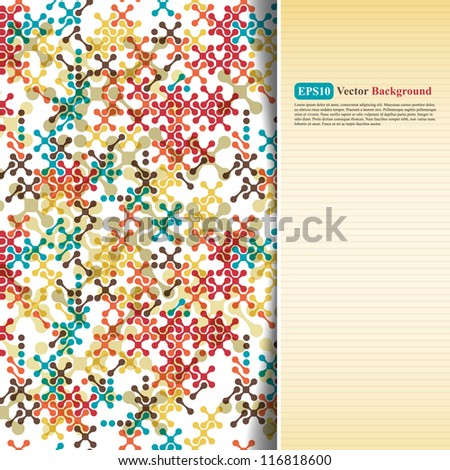 Abstract color card with crosses - stock vector