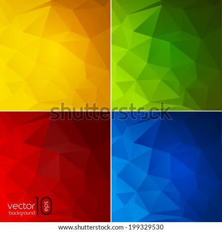 Abstract color  geometric background. Vector illustration - stock vector
