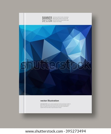 Abstract color geometric background with place for your text. Vector illustration.