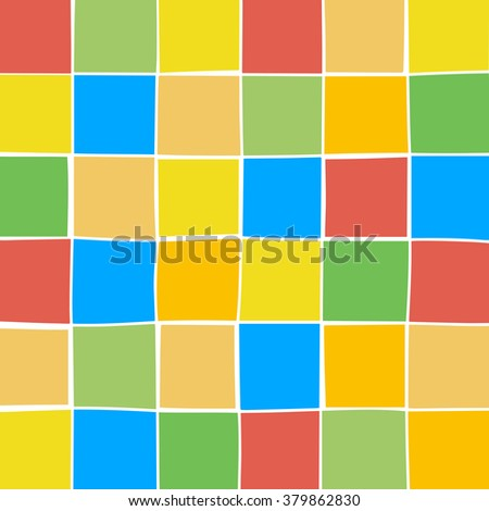 Abstract color geometric background with square element. Vector illustration.