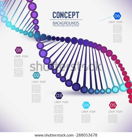 Abstract color geometric lattice DNA, the scope of molecules, the molecules in the circle. Round composition of the molecular lattice.Color picture composition for your design. - stock vector