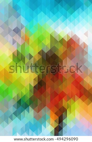 Abstract color grid triangle geometric background
