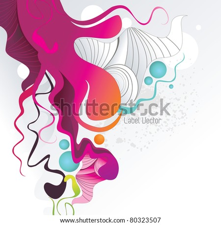 abstract color ink shape vector