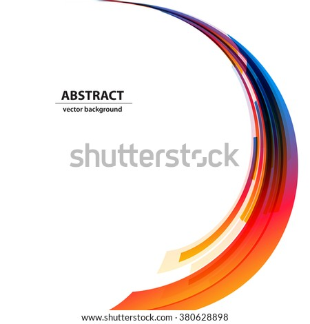 Abstract color light background Logo - stock vector