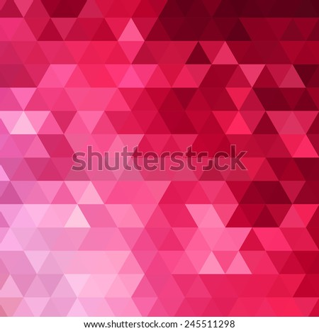 Abstract color mosaic background - stock vector