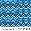 abstract color pattern with zigzags - stock vector