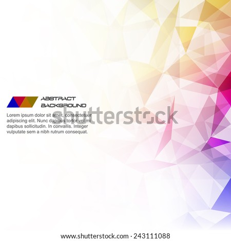 Abstract color polygonal background/vector illustration, design with place for your content or creative editing - stock vector
