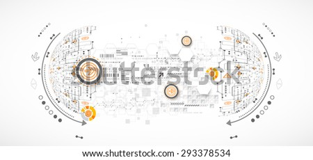 Abstract color science or technology background. Vector - stock vector