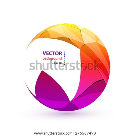 Abstract color sphere, easy all editable - stock vector