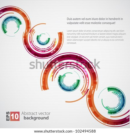 Abstract color technology circles. Vector - stock vector