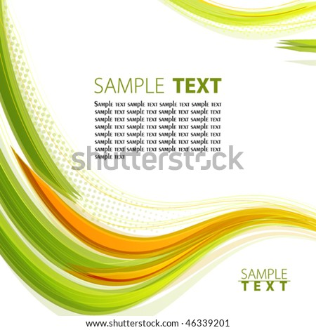 Abstract color template