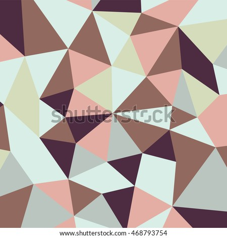 Abstract color triangle pattern in vector. For web, textile, prints.