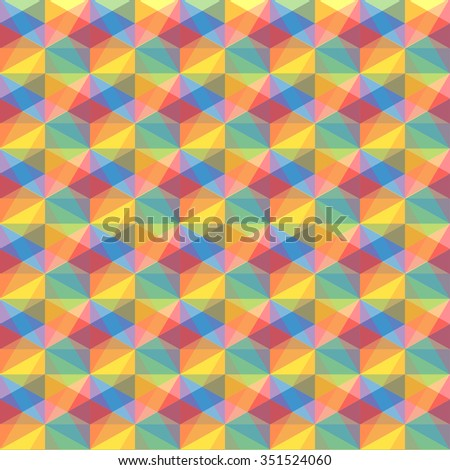 abstract color triangle vector background