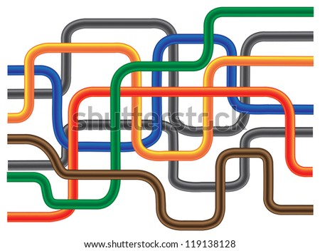 Abstract color tube like on solid background. - stock vector