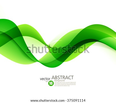 Abstract color wave background. Abstract green wavy lines.  Colorful vector background - stock vector