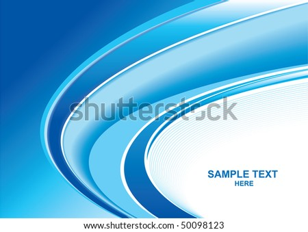 Abstract color wave background vector - stock vector