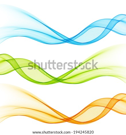 Abstract color wave design element - stock vector