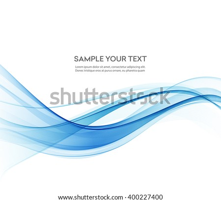 Abstract color wave design element. Blue wave. - stock vector